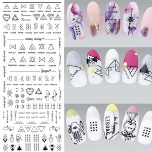 Image 4 - 1 PCS Water Decals Nails Sticker On Nails Harajuku Element Cats Kitty Nail Art Stickers Sliders For Nails Sticker Art ZJT024
