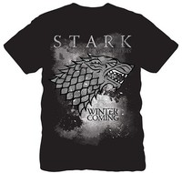 Stark Winter Is Coming T Shirt Men Game Of Thrones Tee Euro Size S XXL
