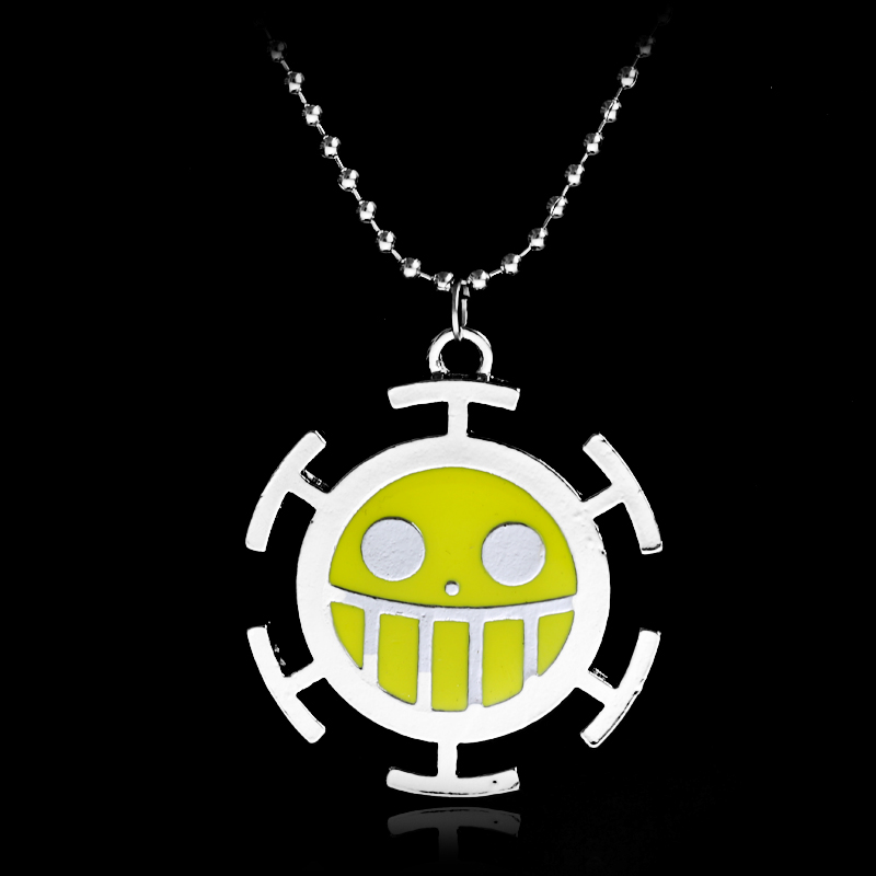 Japanese Anime One Piece Necklace Trafalgar Law Face Figure Pendant Necklace Fashion Cosplay Accessories Spare No Cost At Any Cost Necklaces & Pendants
