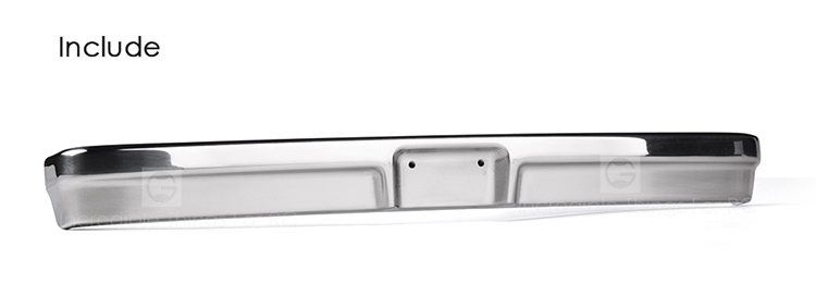 Stainless steel front and rear bumper for GRC TRX4 BRONCO
