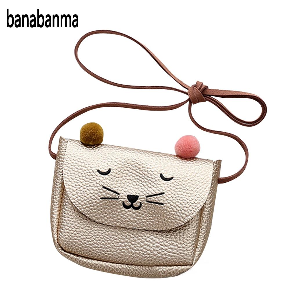 Banabanma мини-милый кот уха сумка дети универсальные ключ портмоне Прекрасный мультфильм сумка для маленьких девочек подарок ZK30