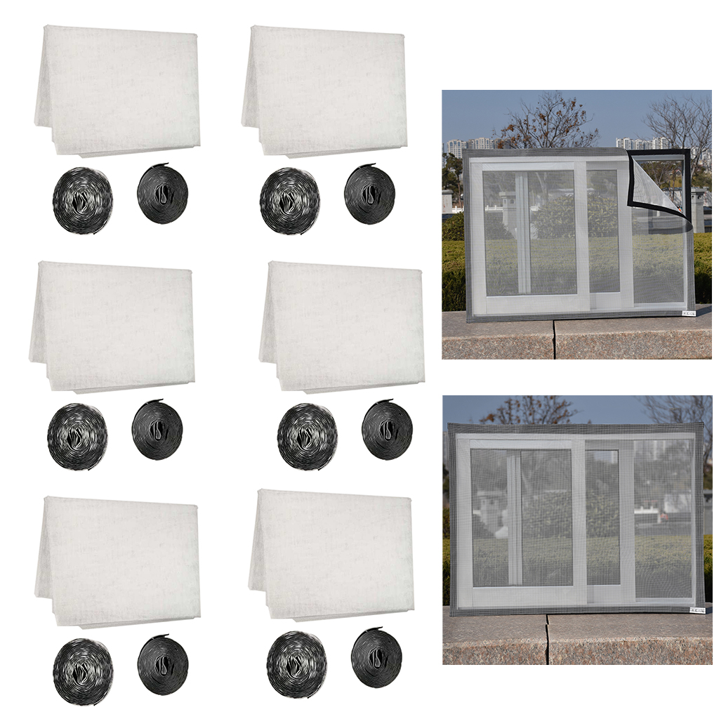 fityle Fiberglass Invisible Window Screen Mosquito Net ...