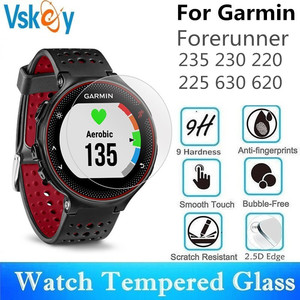 Image 1 - VSKEY 100PCS Tempered Glass For Garmin Forerunner 235 230 220 225 630 620 Screen Protector Sport Smart Watch Protective Film