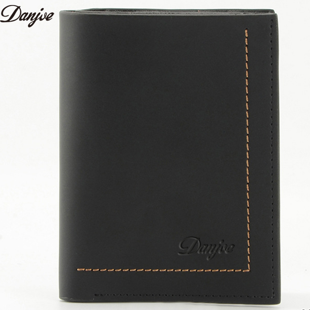 DANJUE Genuine Leather Men Wallets Male Purse Wallet Design Money Bags Card Holder Zipper Coin Pocket