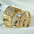 Set 18k Gold filled MEN'S WOMEN'S WEDDING ENGAGEMENT RING BAND R211,280 men size 9-15; women size 6-10