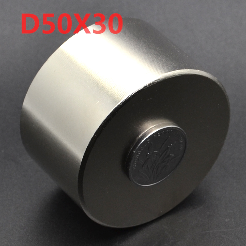 1pcs Neodymium N52 Dia 50mm X 30mm Strong Magnets Tiny Disc NdFeB Rare Earth For Crafts Models Fridge Sticking 50x30 <font><b>50*30</b></font> image