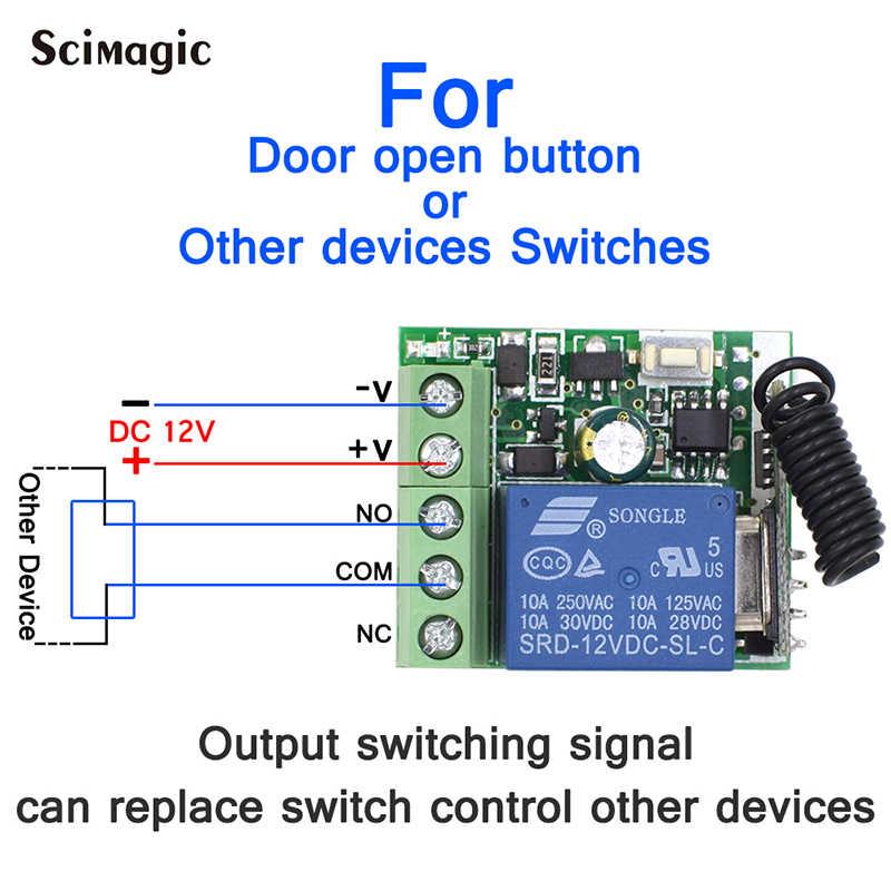 433Mhz DC12V 1CH przekaźnik bezprzewodowy pilot zdalnego sterowania przełącznik 433 MHz odbiornik RF modułem do Smart-domowy przełącznik nadajnik Diy