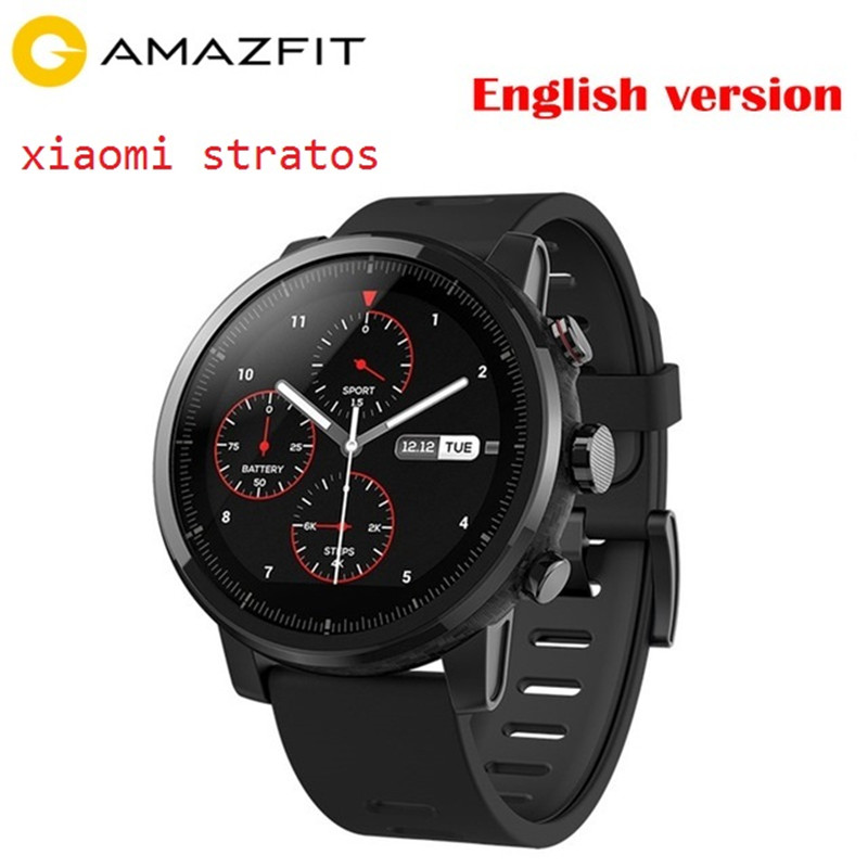 xiaomi mi huami amazfit smart watch stratos 2 english version sports smartwatch with gps ppg heart rate monitor 5atm waterproof Xiaomi Huami Amazfit 2 Amazfit Stratos Pace 2 Smart Watch Men with GPS Xiaomi Watches PPG Heart Rate Monitor 5ATM Waterproof