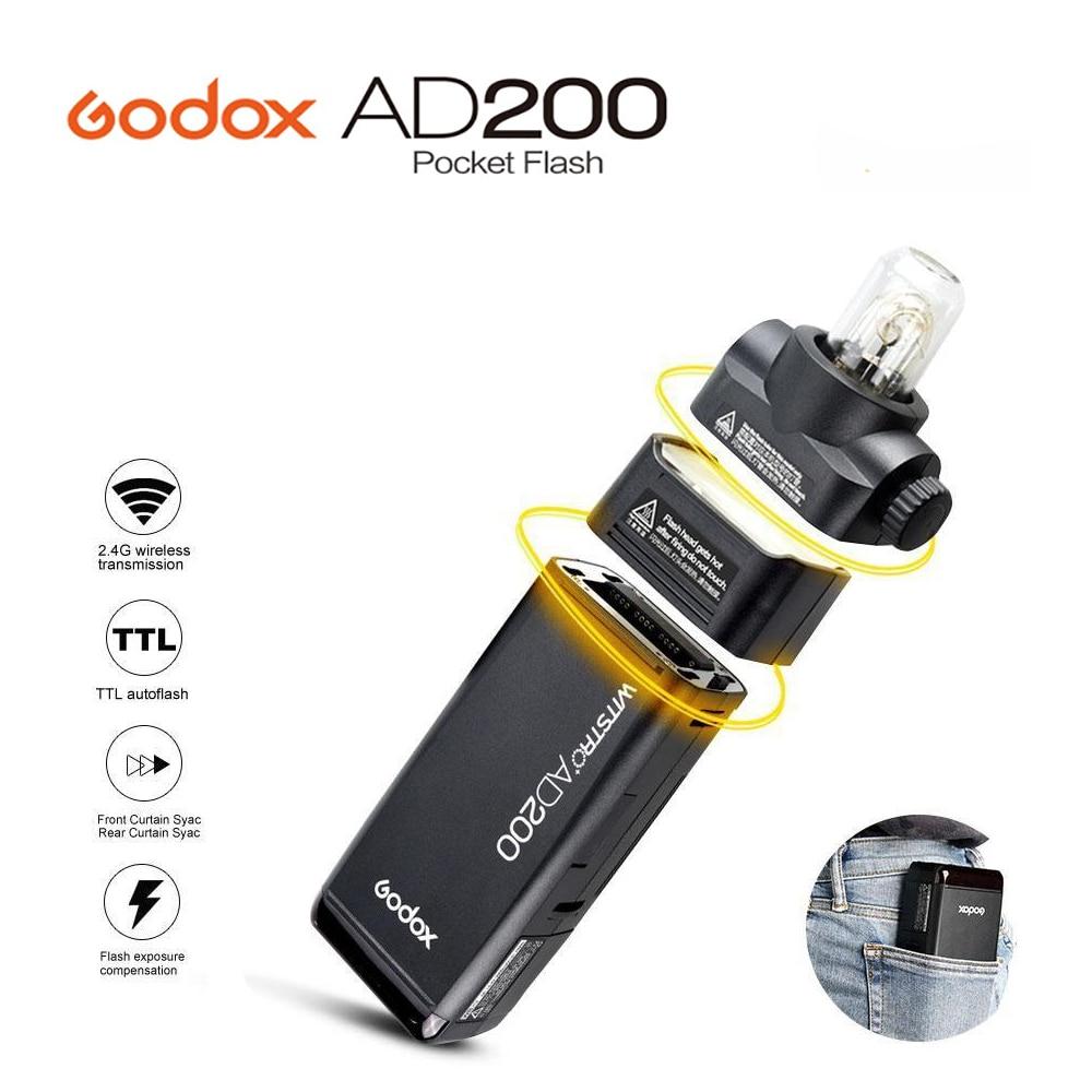 Новинка 2017 года Godox AD200 Карманный вспышки света TTL 2.4 г HSS 1/8000 s двойной свет головы 200ws 2.4 г беспроводной x Системы для Canon Nikon Sony