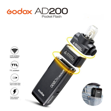 2017 Yeni GODOX AD200 Cep Flash Işık TTL 2.4G HSS 1/8000 s çift Işık Kafa 200Ws Canon Nikon için 2.4G Kablosuz X Sistemi Sony