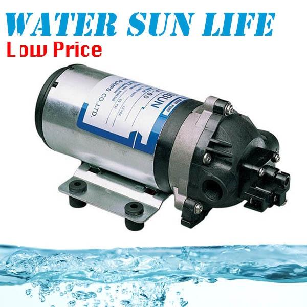 40W Small DC Diaphragm Pump 12Volt Water Pump 5L/min Centrifugal Water Pump 160psi 8l min dc 100w water diaphragm pump 24v