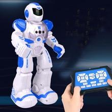 Большой размер 26 см) радиоуправляемый робот с дистанционным управлением, умные экшн-фигурки для ходьбы, пения, танцев, сенсорные игрушки, подарок для детей
