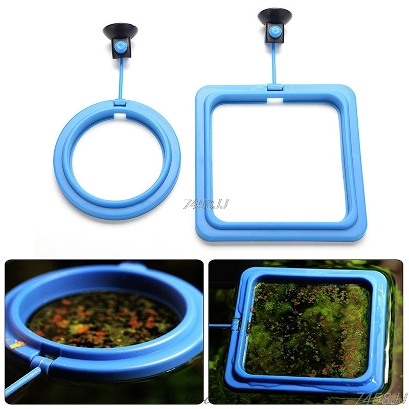 Feeding Ring Aquarium Fish Tank Station Floating Food Tary Feeder Square/Circle DropShip