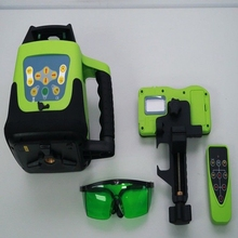 GREEN ROTARY LASER LEVEL 1.65M TRIPOD 5M  staff ELECTRONIC SELF-LEVELING applicability