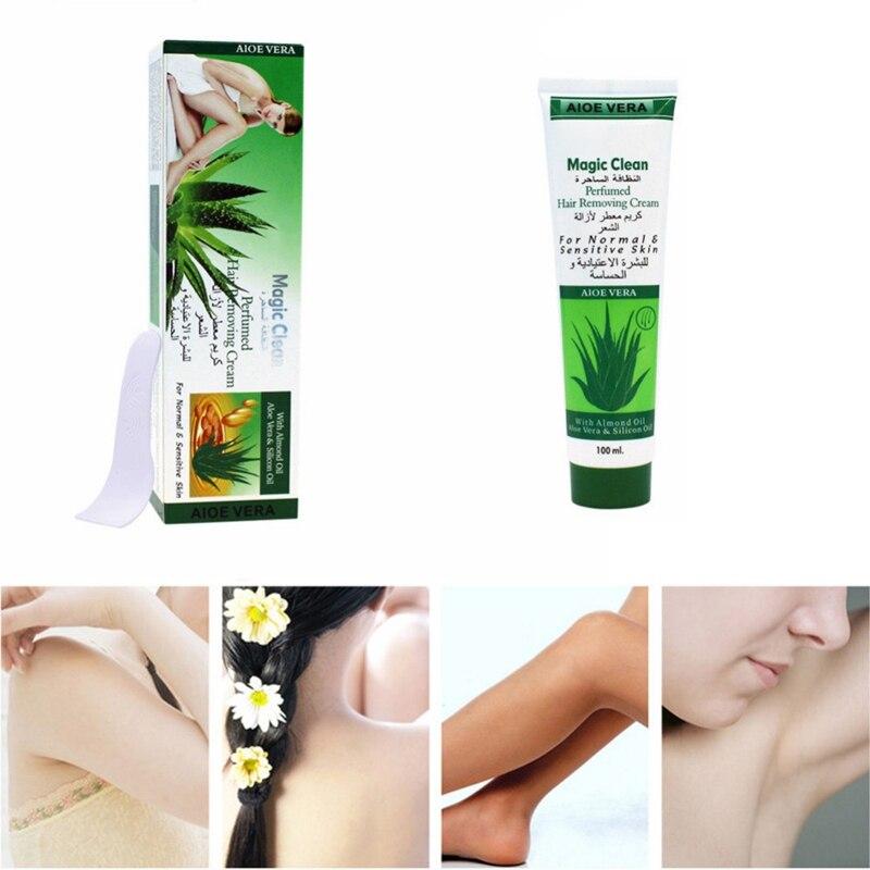 100g Cucumber/Aloe/ Snails Moisturizing Hair Removal Cream Natural Gentle Depilatory Cream Hair Removal 2019 5