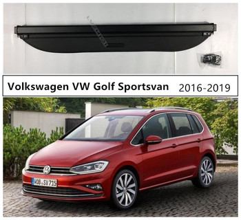 Rear Trunk Security Shield Cargo Cover For Volkswagen VW Golf Sportsvan 2016 2017 2018 2019 High Qualit Car Accessories