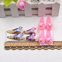 4pcs Mini Foam Artificial Bird Flower Supplies For Wedding Car Decoration DIY Scrapbooking