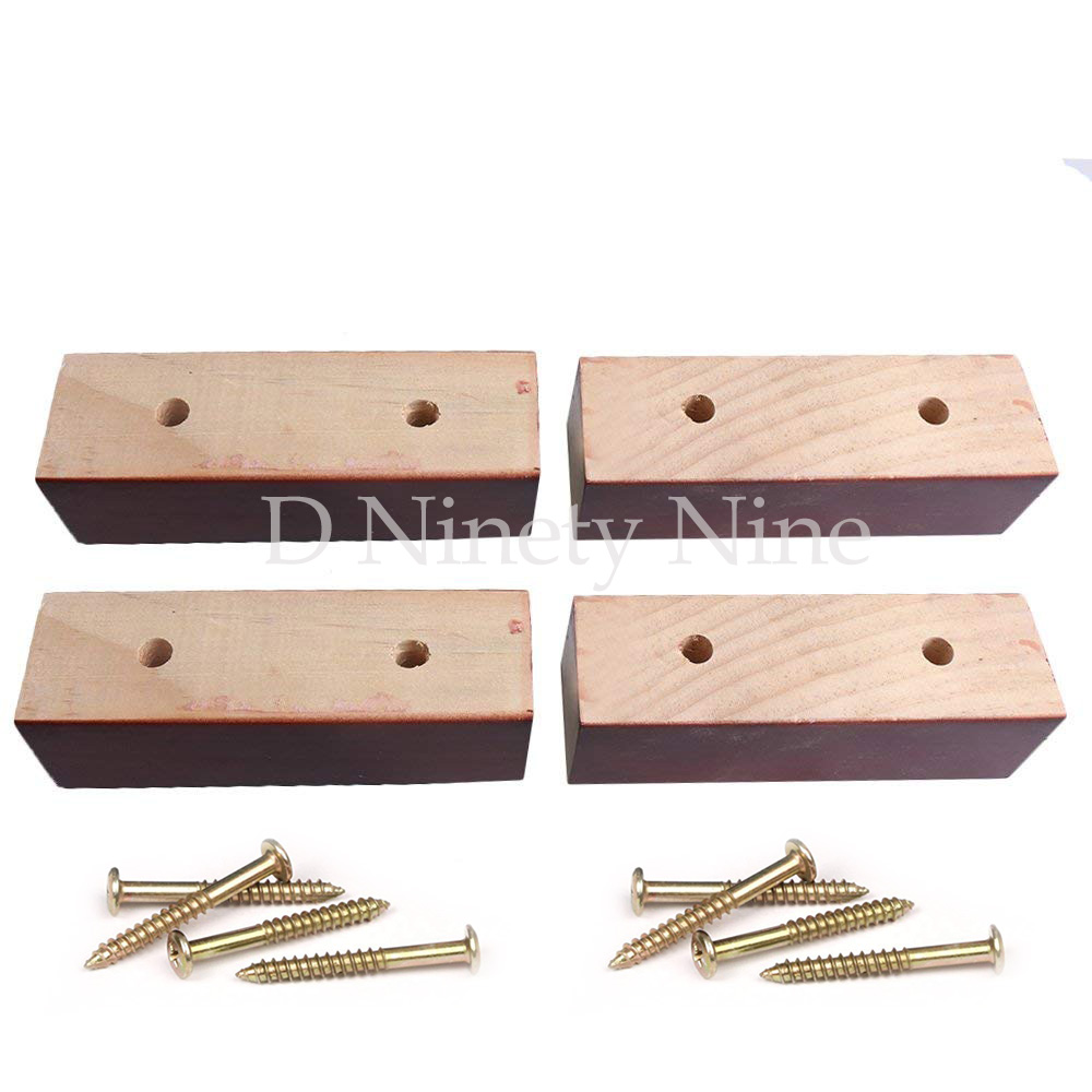 Natural wood 5.9x1.89x1.89 Red Pine Rectangular Box Sofa Legs Furniture Feet Hole Distance 7.7cm Sofa DIY Pack of 4 vibration of orthotropic rectangular plate