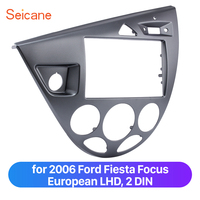 Seicane 2 Din Car Stereo Trim Mount Bezel Frame Kit in Dash for 2006 Ford Fiesta Focus European LHD Refitting Panel Plate