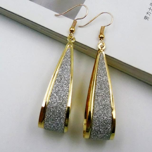Bohemian Geometric Drop Earrings