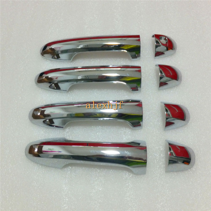 High-quality ABS Plating Door Handle Case For Toyota Highlander 2014~ON, seamless fit, 8pcs/set for 1 car, free shipping