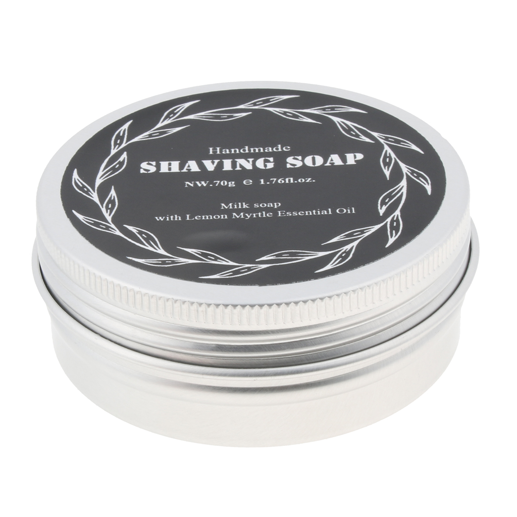 High Moisturizing Home Travel Men's Beard Moustache Shaving Cream Soap 70g