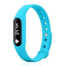 Спортивные часы Smart Bluetooth 4.0 отслеживания активности сна ЧСС подключен Смартфон Android и IOS Apple IPhone (синий)