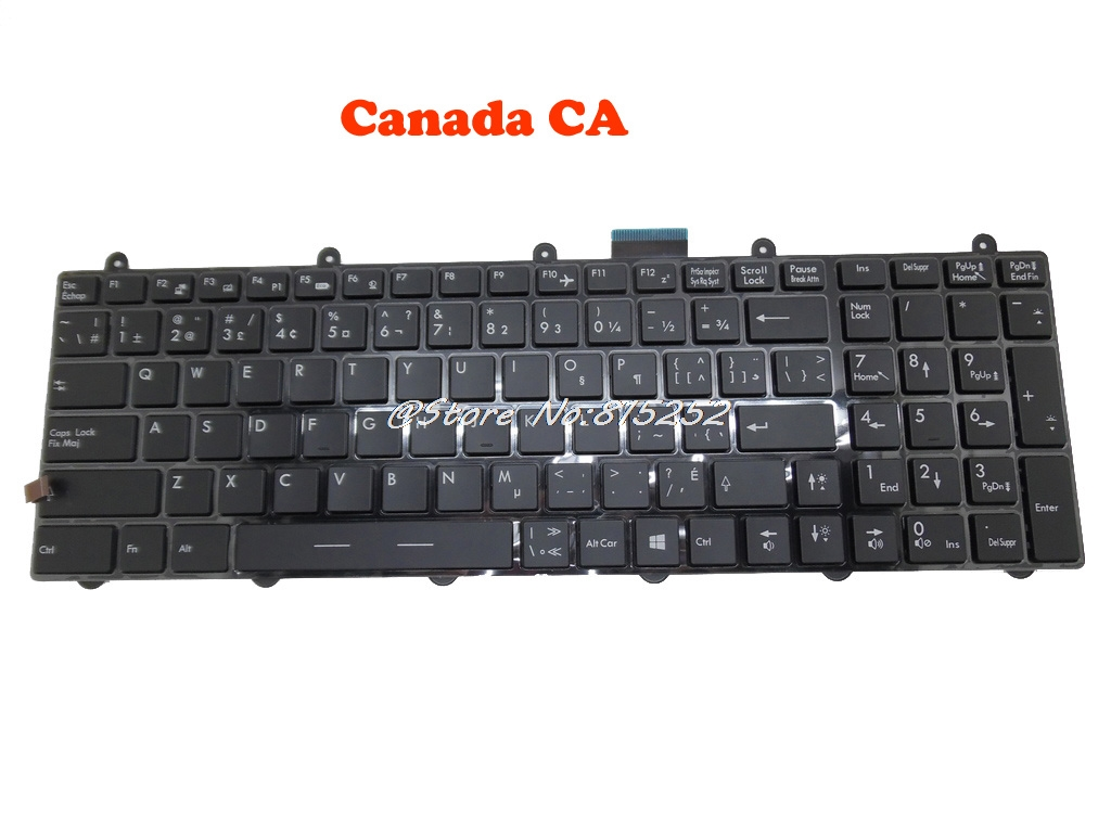 Backlit Keyboard For MSI GE60 2PC 2PE 2PF 2PG 2QD MS 16GF KR Korean GR German SW Swiss US English Russian RU Nordic NE France FR in Keyboards from Computer Office