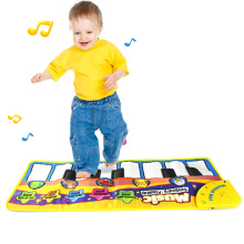 70*30CM Baby Play Crawling Mat Music Carpets Kid Piano Play Game Mats Animal Sounds Educational Soft Kick Toys Gift NSV775 110x36cm musical mat keyboard music carpets piano play mat touch keys melody instrument educational toy gift for boys