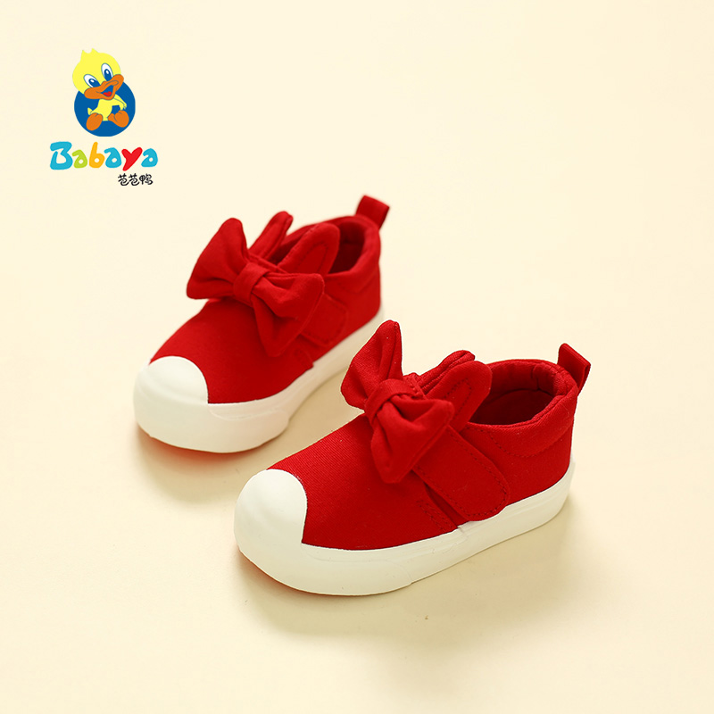 ФОТО children canvas shoes baby shoes girls 1 - 2 - 3 years old soft toddler shoes boys child cotton-made shoes 2016 autumn