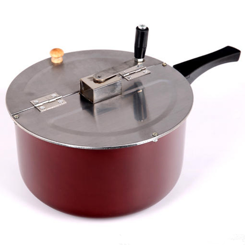 Stainless Steel Popcorn Machine Depth 16cm,Diameter 26cm Popcorn Pot Stove For Commercial Suit For Electromagnetic Furnace multifunctional cooking pot soup pot steamer with stainless steel steamer diameter 20cm for electromagnetic furnace gas stove