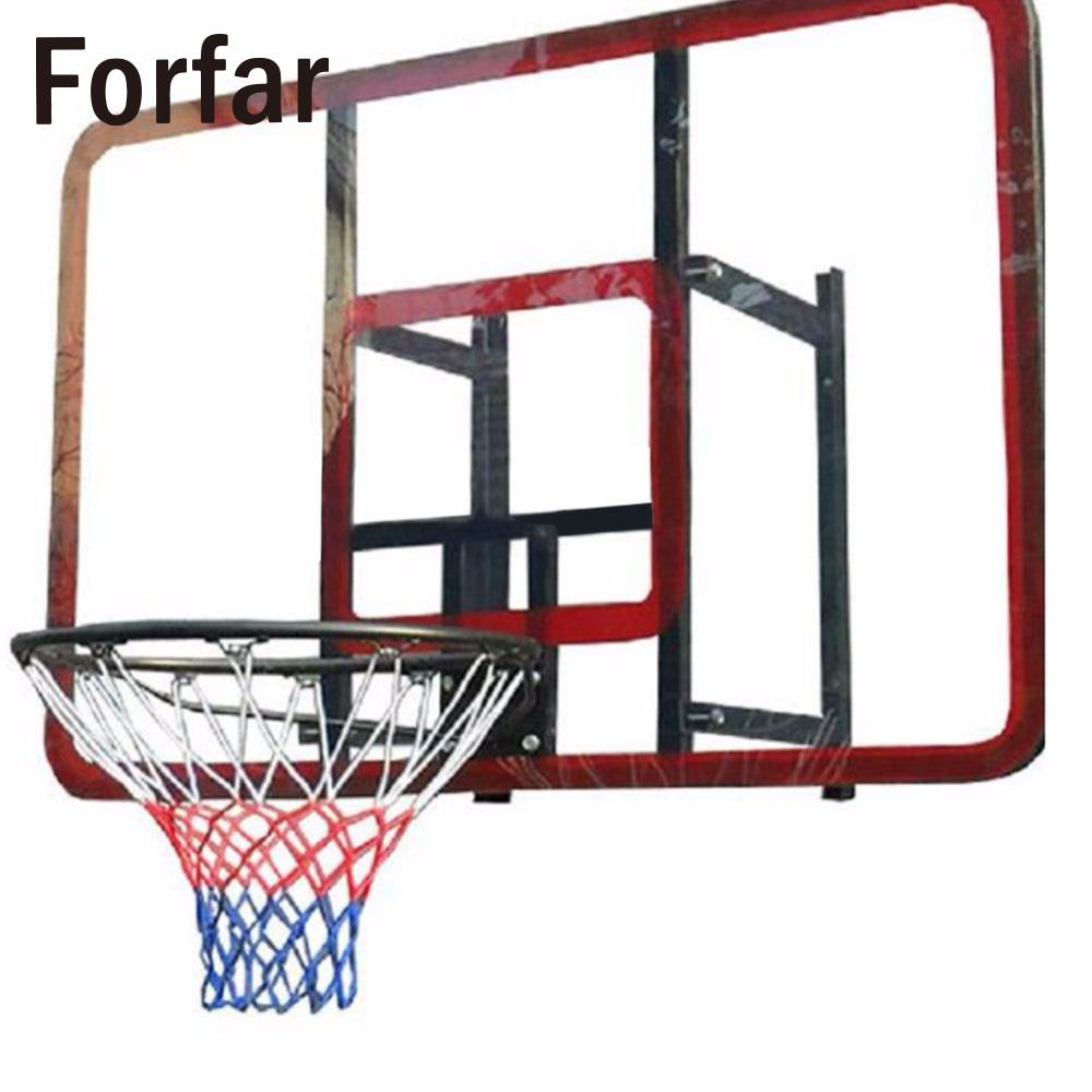 Forfar 1pc Red White Blue Basketball Net Nylon Hoop Goal Rim Mesh Net Hot Sale