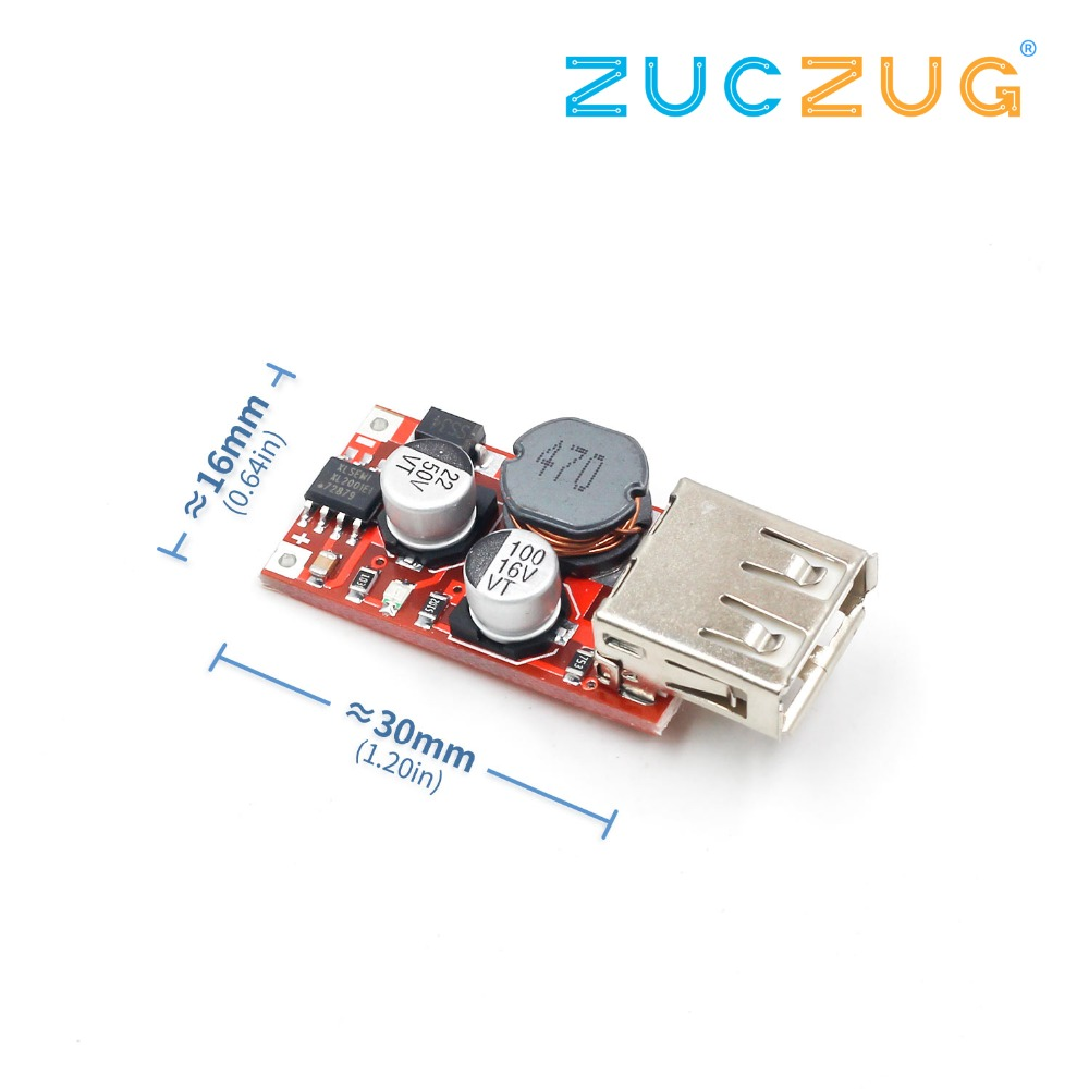 Fine 6-24V 12V/24V To 5V 3A CAR USB Charger Module DC Buck Step Down Converter 12v 5v Power Supply Module