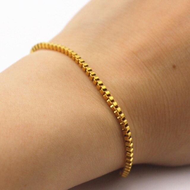 New Design Box Chain Bracelet For Men Pulseras Mujer Women Jewelry Wrap Bracelets