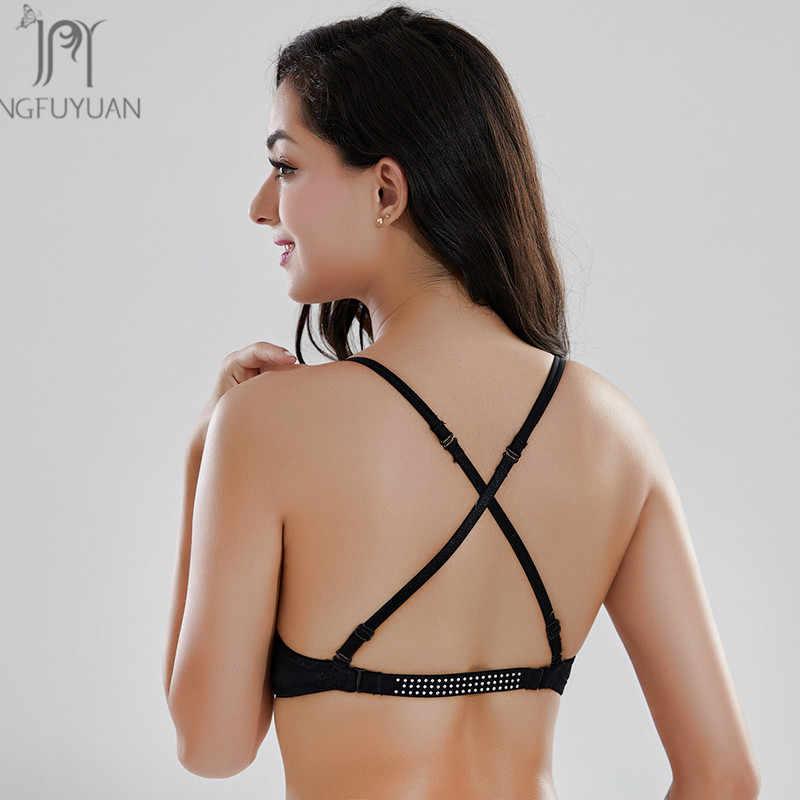 f1c1371d4a ... Blackless Adjustable Bra Women Deep Plunge U Shape Bras Sexy Bra For  Summer Dress Seamless Women ...
