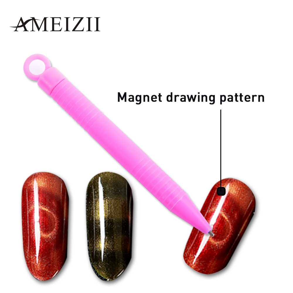 Hot Sale Ameizii 1pcs Nail Magnet Pen For 3d Magnetic Cat Eyes Nail