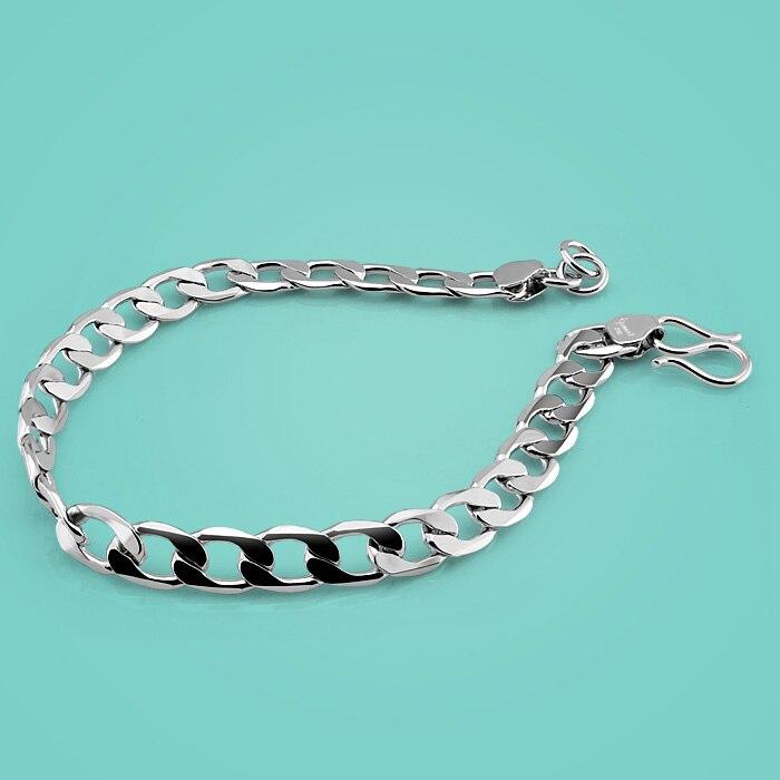 Fashion solid silver bracelet,925 sterling silver bracelet with ...