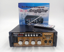 Al Por Mayor especial NEW12V220V Propósito AV Amplificador de Potencia de Altavoces Con Radio FM USB Disco Doble Micrófono Jacks 1 UNIDS PARA RUSIA
