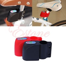 Free Shipping!Excellent Security Alarm Bicycle Steal Lock Bike alarm with Retail Packaging Black/RED