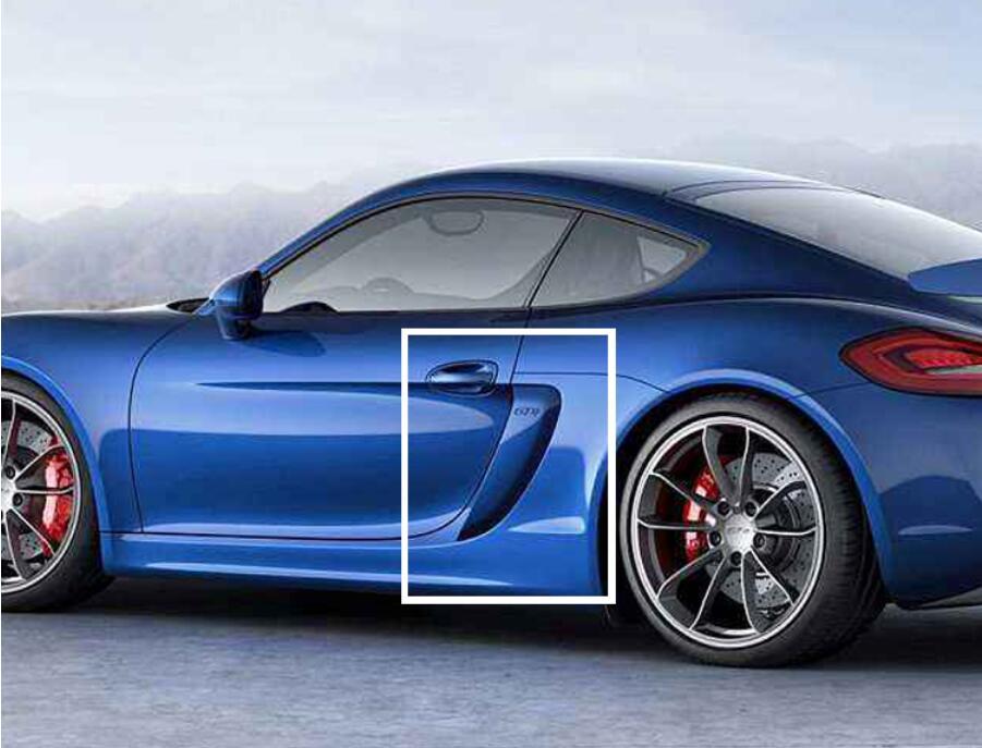 JINGHANG 2 pièces En Fiber De Carbone modifié GT4 côté tuyère d'air prise d'air capot couverture Pour 10-16 Porsche 981 Cayman 2010-2016