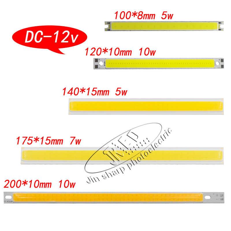 1 יחידות 12 v COB led שבב להדגיש מטריקס luzes בר אחיד אור צבע עבור DIY אור לבן חם לבן DC 12-14 v 2 w-200 w led