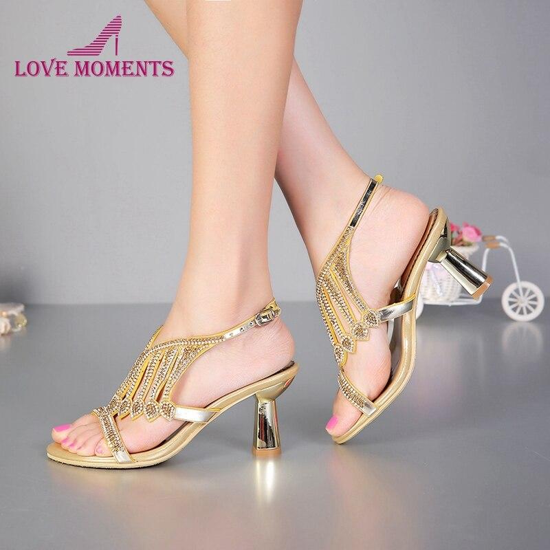 Chunky Wedding Heels: Summer Sandals Newest Design Bridal Shoes Fashion Chunky