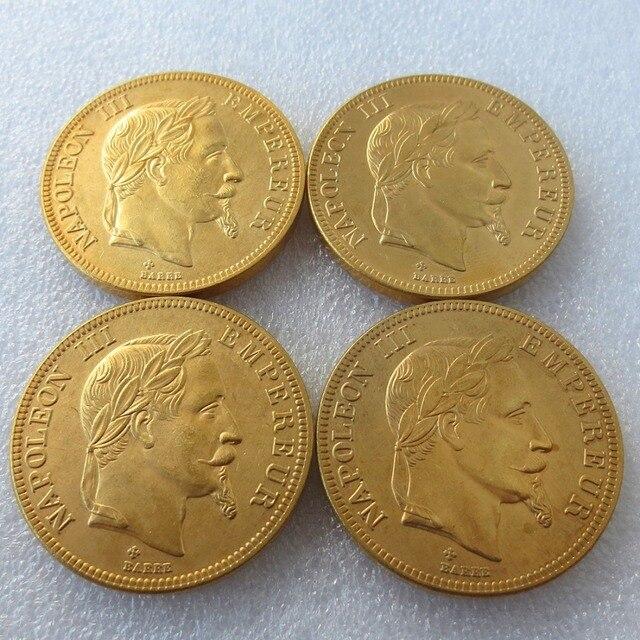 Frankreich 4 Stücke Bb1862 Bb 1869 Napoleon Iii 100 Franken
