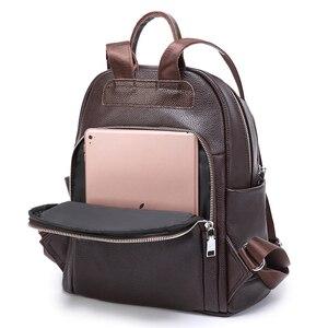 Image 5 - Sac à dos de mode pour femmes en cuir véritable sac à bandoulière de luxe pour femmes