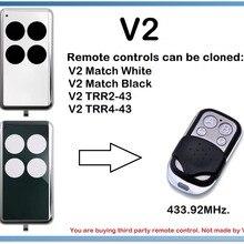 V2 женские белые, сочетается с черными дистанционного Управление Дубликатор duplo и 4-канальный 433,92 МГц.(Только для фиксированного кода 433,92 МГц