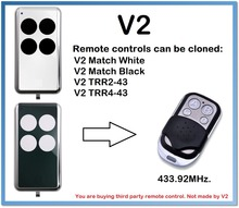 V2 Match White, Black Remote Control Duplicator 4-Channel 433.92MHz .(only for 433.92mhz fixed code)