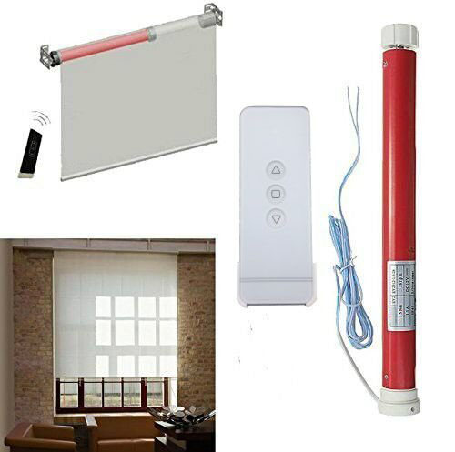 DC 24V Tubular Electric Roller Shutters Curtains Motor RF433 Smart Home  Automatic Intelligent Remote Control Lifting