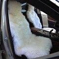 1 Peça 4 Cores Disponíveis DUMI Inverno 135x55 cm Lã Longa Auto Assentos Dianteiros 100% Genuínas da pele de Carneiro Carro Tampas de assento Universal Caber Em