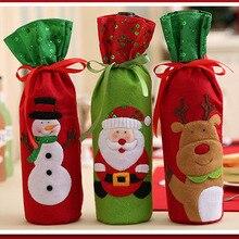 1 шт. Рождественский чехол для бутылки вина, крышка для дома, рождественские украшения, наборы бутылок, украшение, Рождественское украшение, TB распродажа