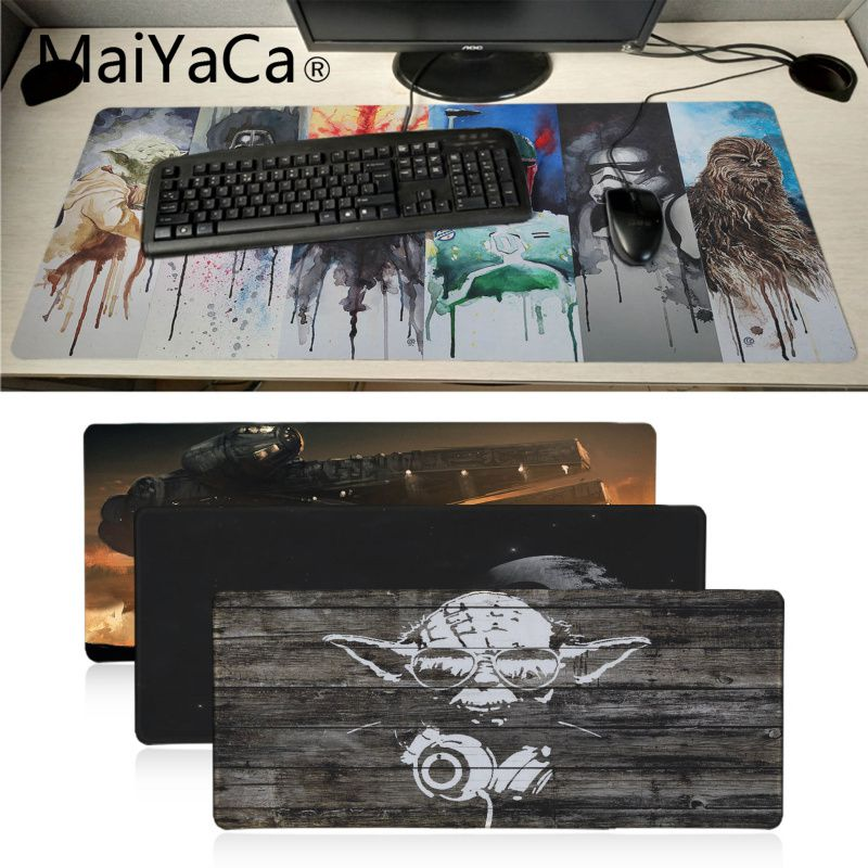 MaiYaCa New Arrivals Star War High Speed New Mousepad Large Gaming Mouse Pad Anti-slip Perfect Locking PC Computer Desk Mat
